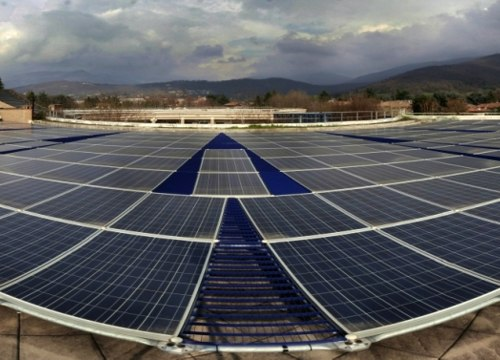 Solar pv mounting structure for flat or inclined roofs